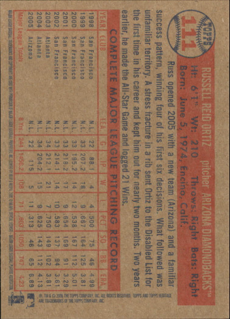 2006-Topps-Heritage-Baseball-Base-Singles-3-150-Pick-Your-Cards thumbnail 128
