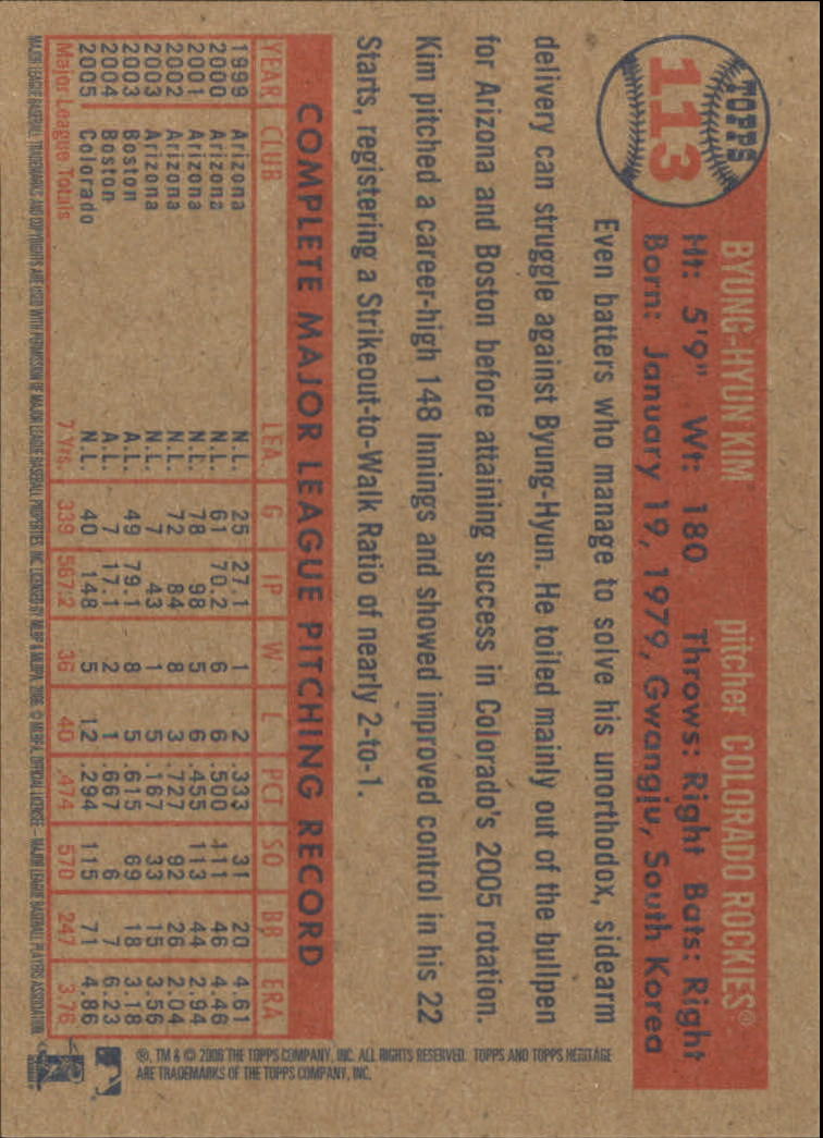 2006-Topps-Heritage-Baseball-Base-Singles-3-150-Pick-Your-Cards thumbnail 130