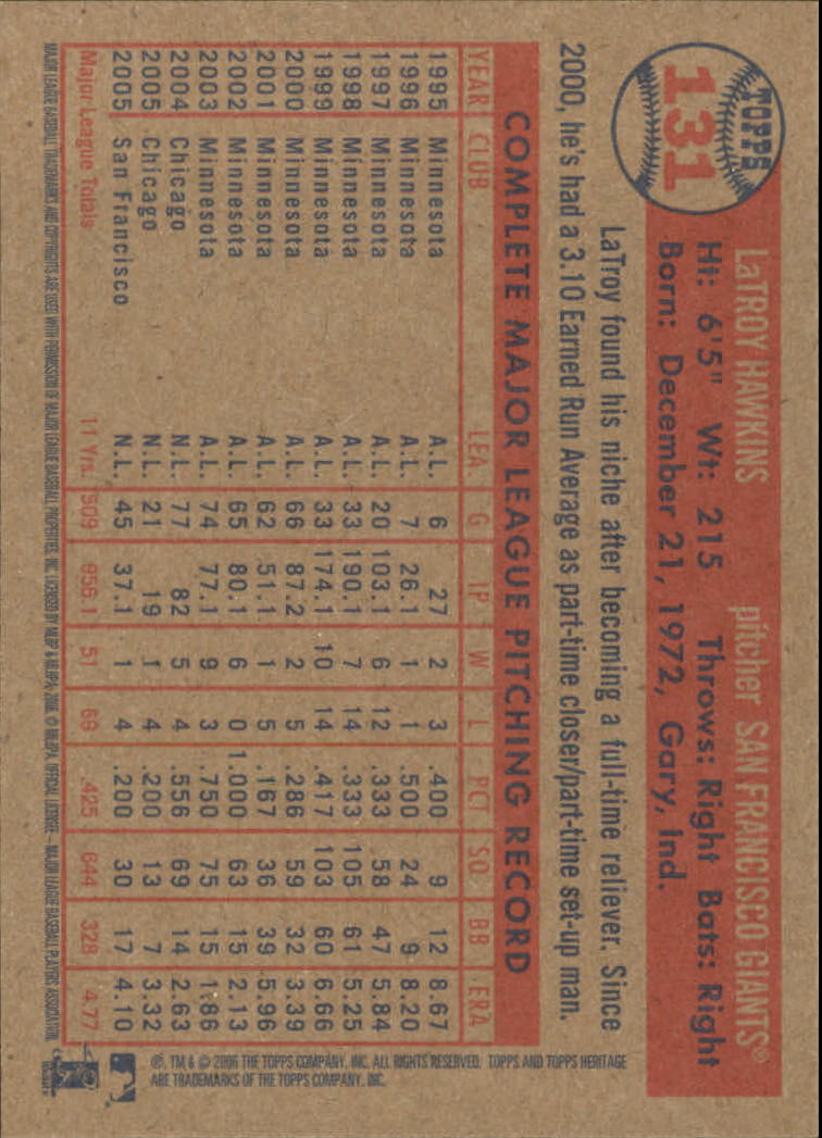 2006-Topps-Heritage-Baseball-Base-Singles-3-150-Pick-Your-Cards thumbnail 150