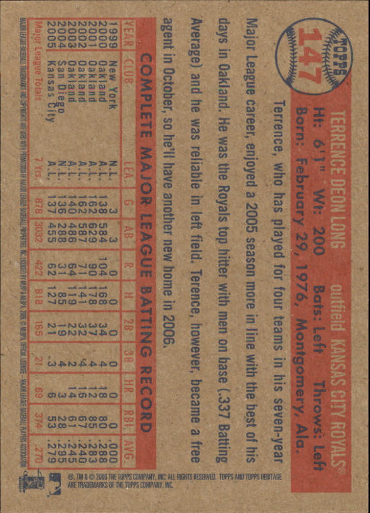 2006-Topps-Heritage-Baseball-Base-Singles-3-150-Pick-Your-Cards thumbnail 176