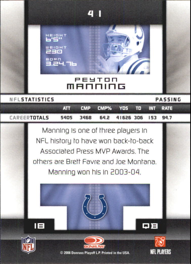 2008-Donruss-Elite-Football-Base-Singles-Pick-Your-Cards thumbnail 81