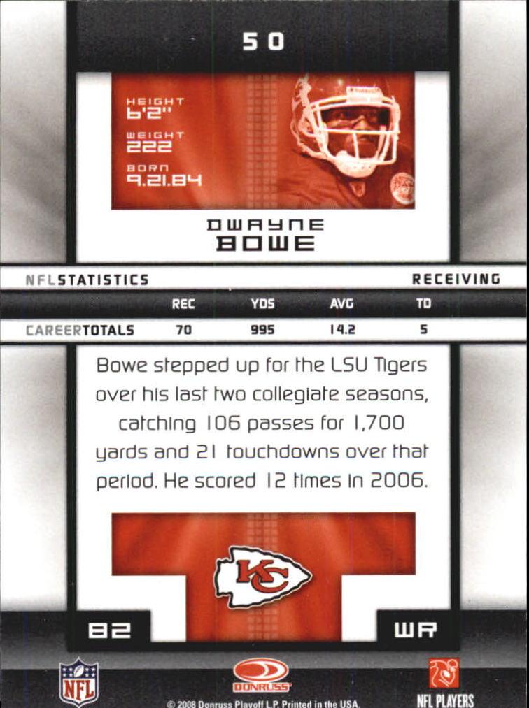 2008-Donruss-Elite-Football-Base-Singles-Pick-Your-Cards thumbnail 99
