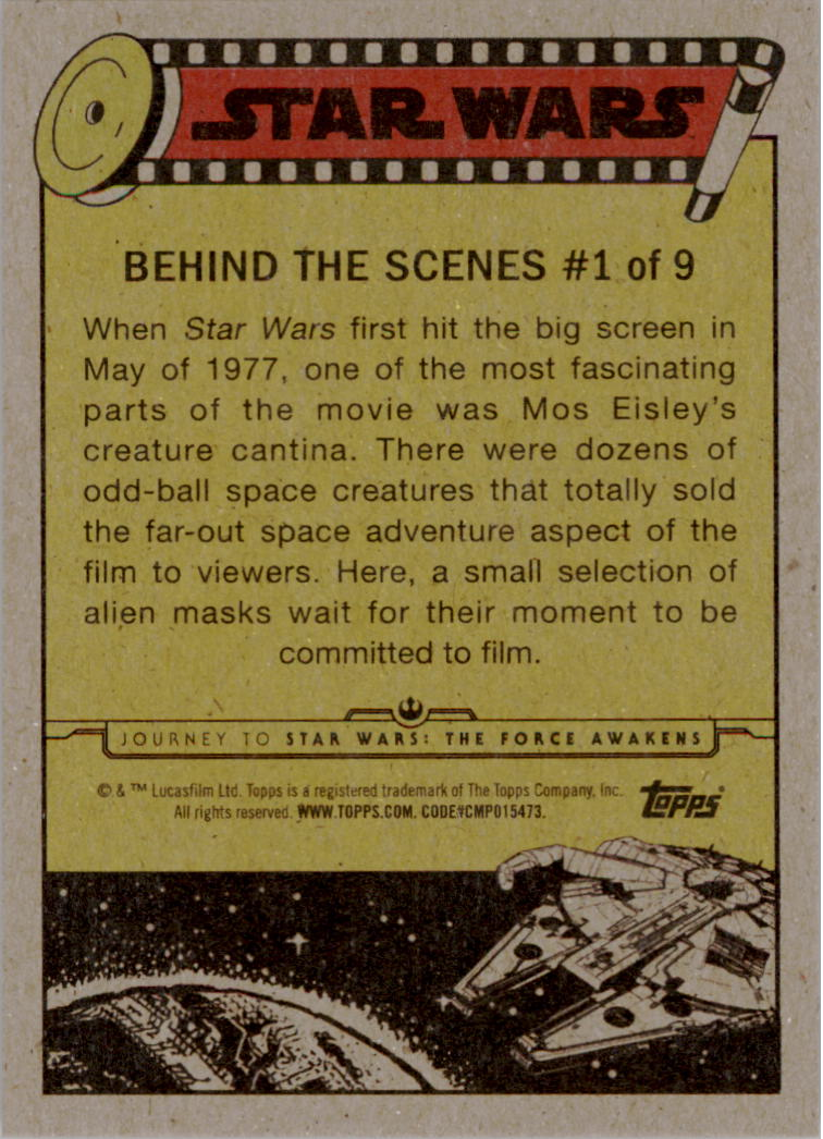 2015-Star-Wars-Journey-to-The-Force-Awakens-Insert-Singles-Pick-Your-Cards miniature 3