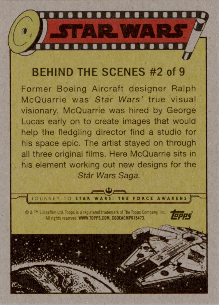 2015-Star-Wars-Journey-to-The-Force-Awakens-Insert-Singles-Pick-Your-Cards miniature 5