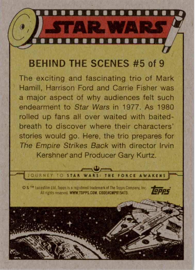 2015-Star-Wars-Journey-to-The-Force-Awakens-Insert-Singles-Pick-Your-Cards miniature 9