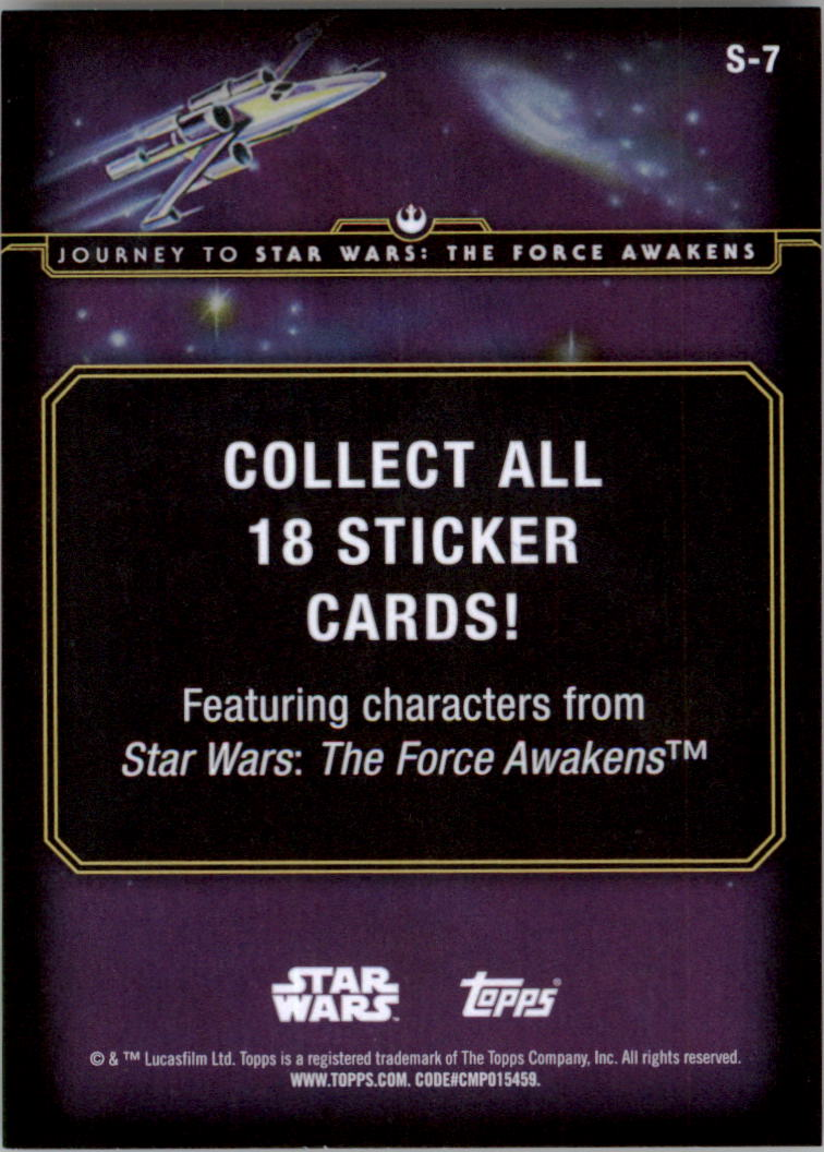 2015-Star-Wars-Journey-to-The-Force-Awakens-Insert-Singles-Pick-Your-Cards miniature 19