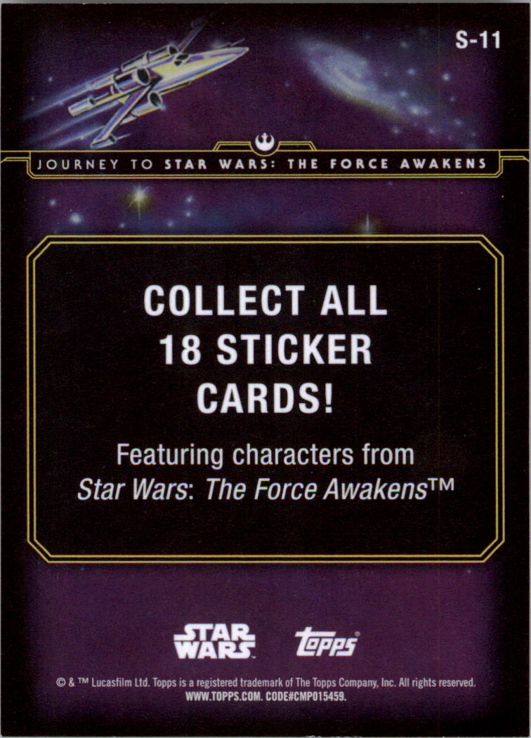 2015-Star-Wars-Journey-to-The-Force-Awakens-Insert-Singles-Pick-Your-Cards miniature 27