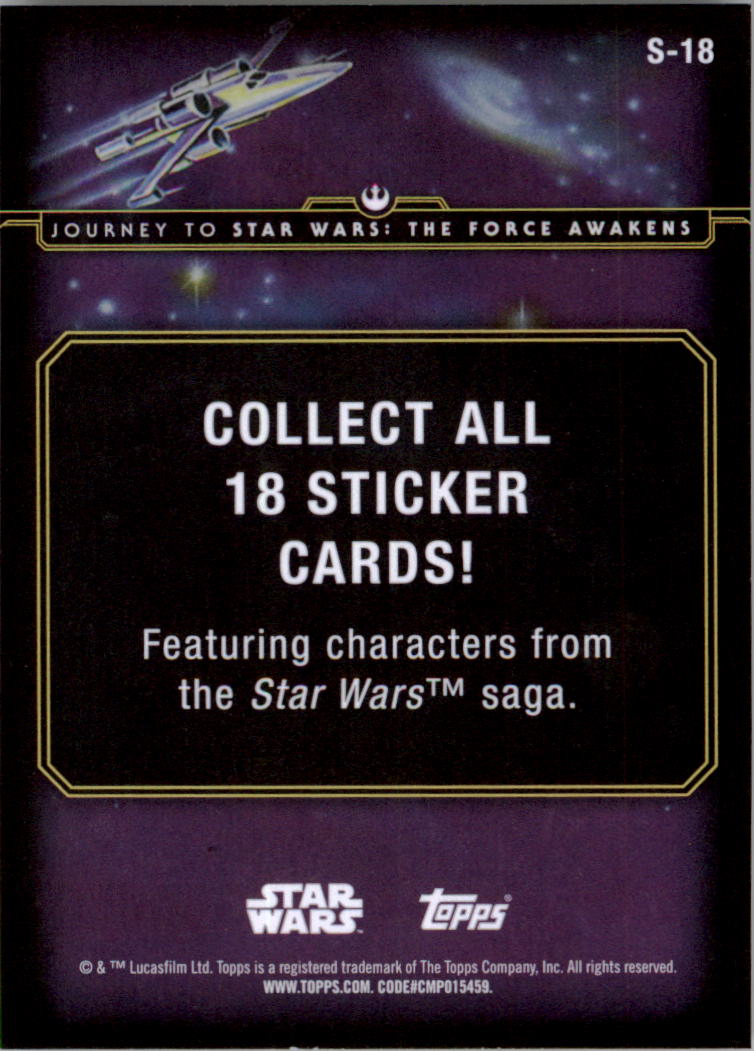 2015-Star-Wars-Journey-to-The-Force-Awakens-Insert-Singles-Pick-Your-Cards miniature 39
