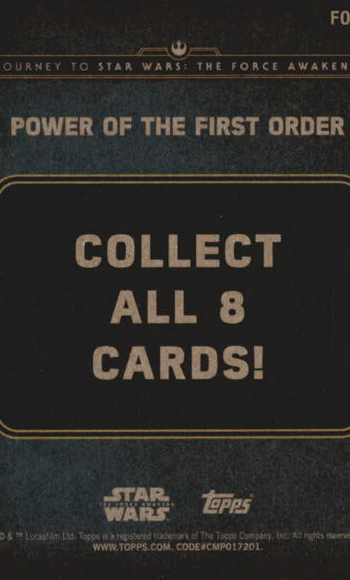 2015-Star-Wars-Journey-to-The-Force-Awakens-Insert-Singles-Pick-Your-Cards miniature 65