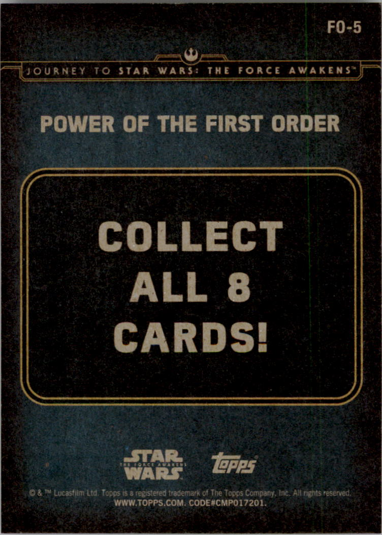 2015-Star-Wars-Journey-to-The-Force-Awakens-Insert-Singles-Pick-Your-Cards miniature 67