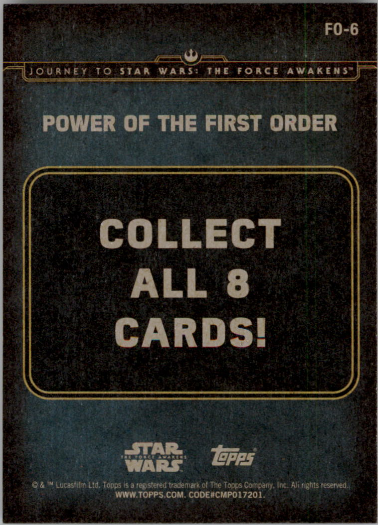 2015-Star-Wars-Journey-to-The-Force-Awakens-Insert-Singles-Pick-Your-Cards miniature 69