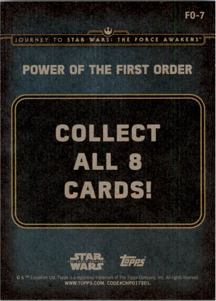 2015-Star-Wars-Journey-to-The-Force-Awakens-Insert-Singles-Pick-Your-Cards miniature 71