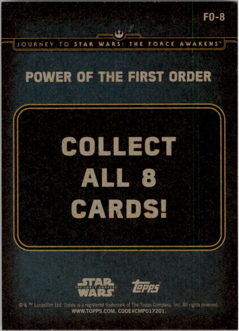 2015-Star-Wars-Journey-to-The-Force-Awakens-Insert-Singles-Pick-Your-Cards miniature 73