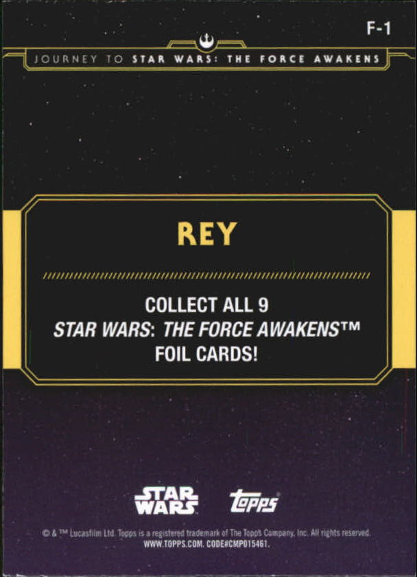 2015-Star-Wars-Journey-to-The-Force-Awakens-Insert-Singles-Pick-Your-Cards miniature 75