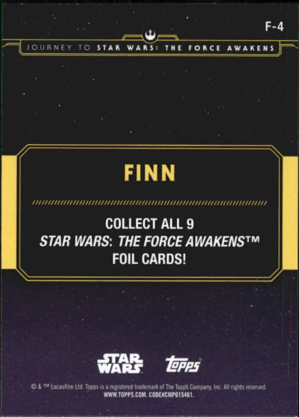 2015-Star-Wars-Journey-to-The-Force-Awakens-Insert-Singles-Pick-Your-Cards miniature 81