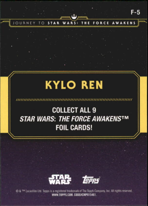 2015-Star-Wars-Journey-to-The-Force-Awakens-Insert-Singles-Pick-Your-Cards miniature 83