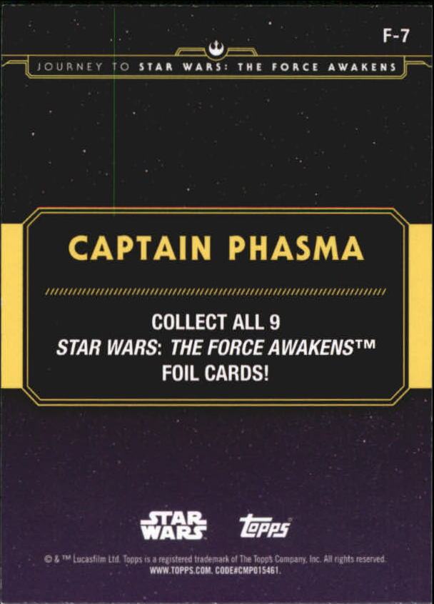 2015-Star-Wars-Journey-to-The-Force-Awakens-Insert-Singles-Pick-Your-Cards miniature 87