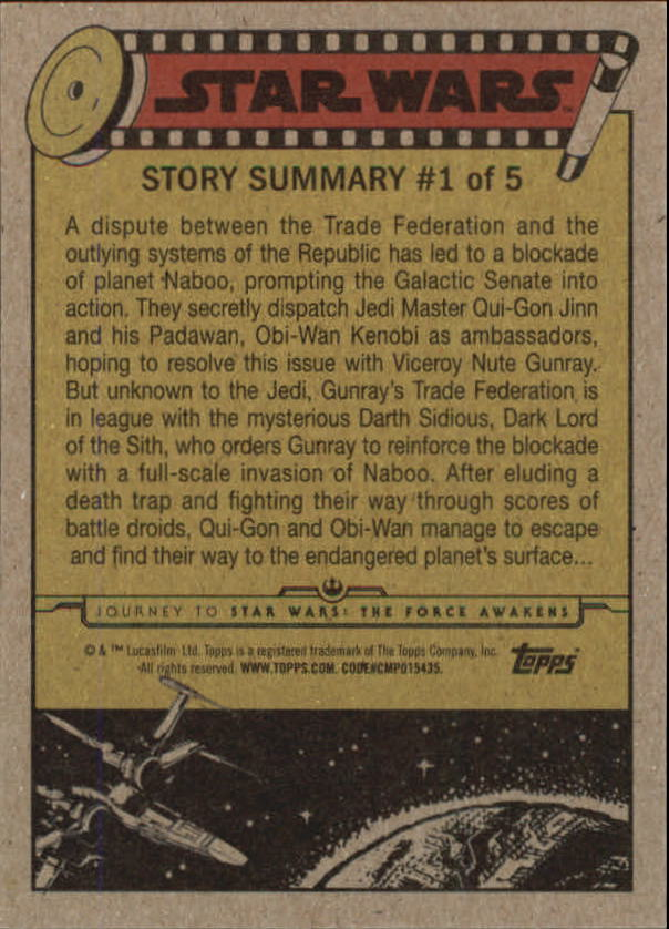2015-Star-Wars-Journey-to-The-Force-Awakens-Base-Singles-Pick-Your-Cards miniature 3