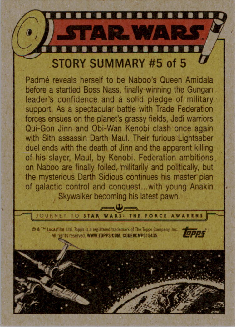 2015-Star-Wars-Journey-to-The-Force-Awakens-Base-Singles-Pick-Your-Cards miniature 9