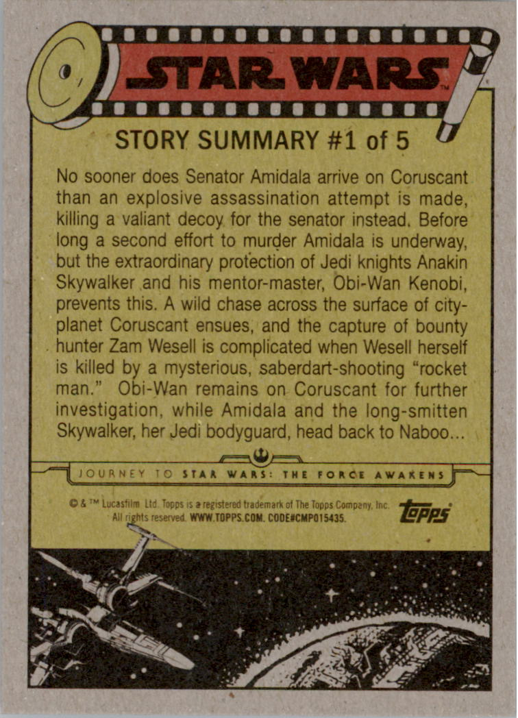2015-Star-Wars-Journey-to-The-Force-Awakens-Base-Singles-Pick-Your-Cards miniature 11