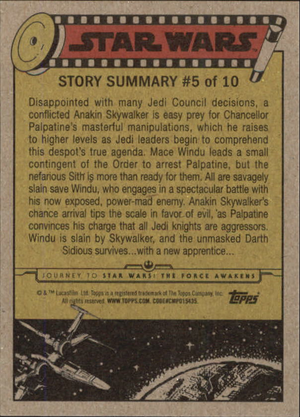 2015-Star-Wars-Journey-to-The-Force-Awakens-Base-Singles-Pick-Your-Cards miniature 23