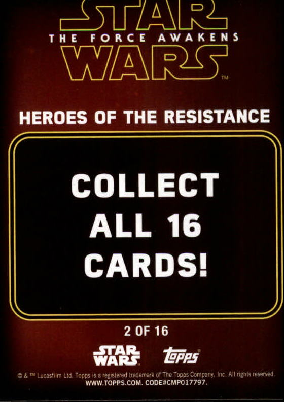 2016-Star-Wars-The-Force-Awakens-Series-Two-Insert-Singles-Pick-Your-Cards miniature 41