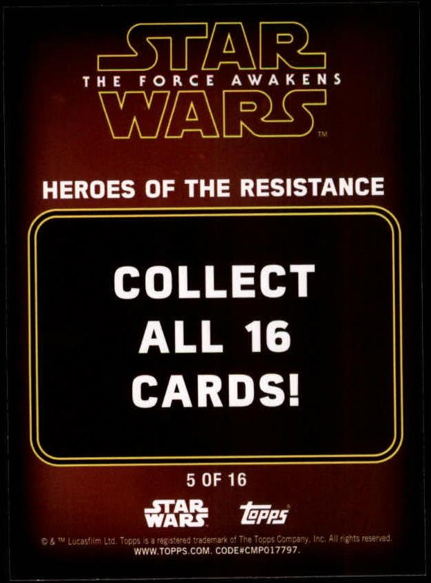 2016-Star-Wars-The-Force-Awakens-Series-Two-Insert-Singles-Pick-Your-Cards miniature 47