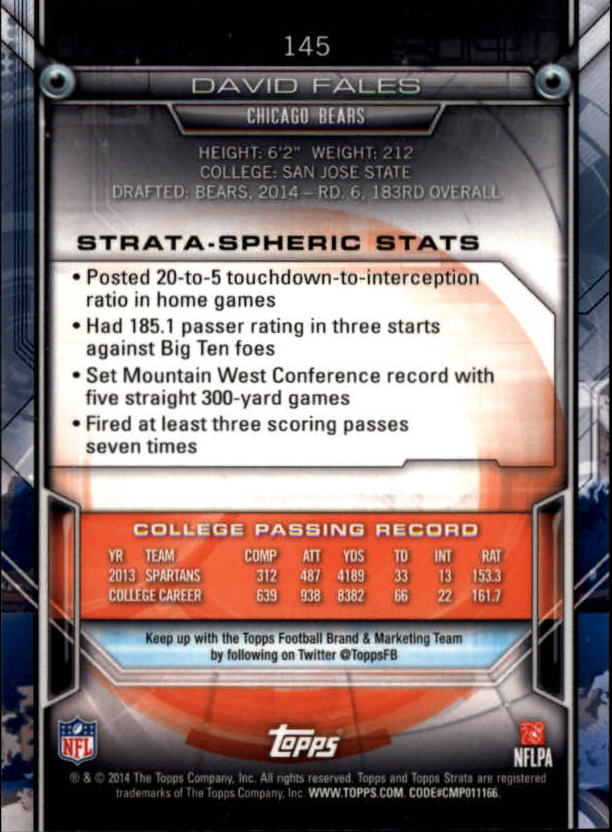 2014-Topps-Strata-Football-Base-Singles-111-200-Pick-Your-Cards