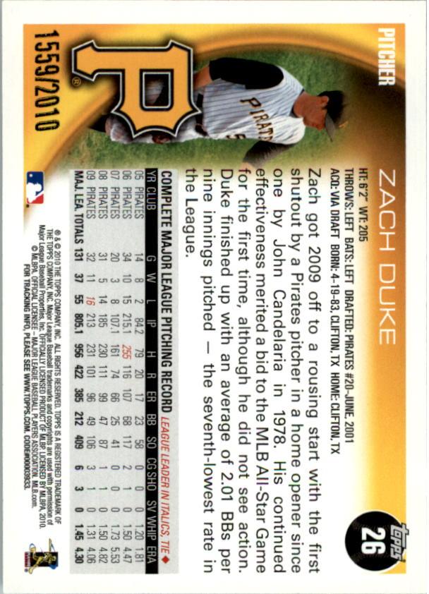 2010-Topps-Baseball-Gold-Border-Singles-Pick-Your-Cards thumbnail 5