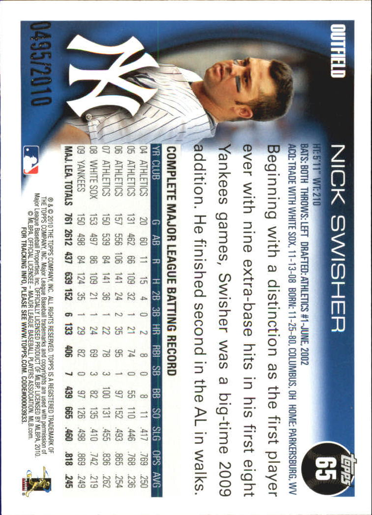 2010-Topps-Baseball-Gold-Border-Singles-Pick-Your-Cards thumbnail 9