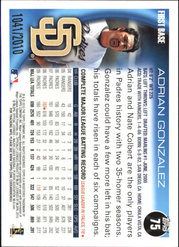 2010-Topps-Baseball-Gold-Border-Singles-Pick-Your-Cards thumbnail 11