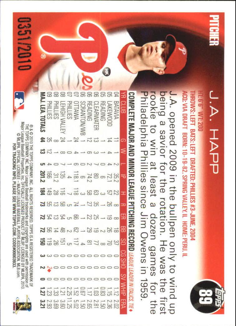 2010-Topps-Baseball-Gold-Border-Singles-Pick-Your-Cards thumbnail 13