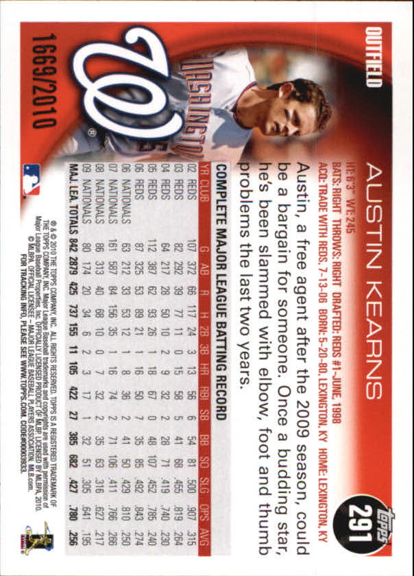 2010-Topps-Baseball-Gold-Border-Singles-Pick-Your-Cards thumbnail 39