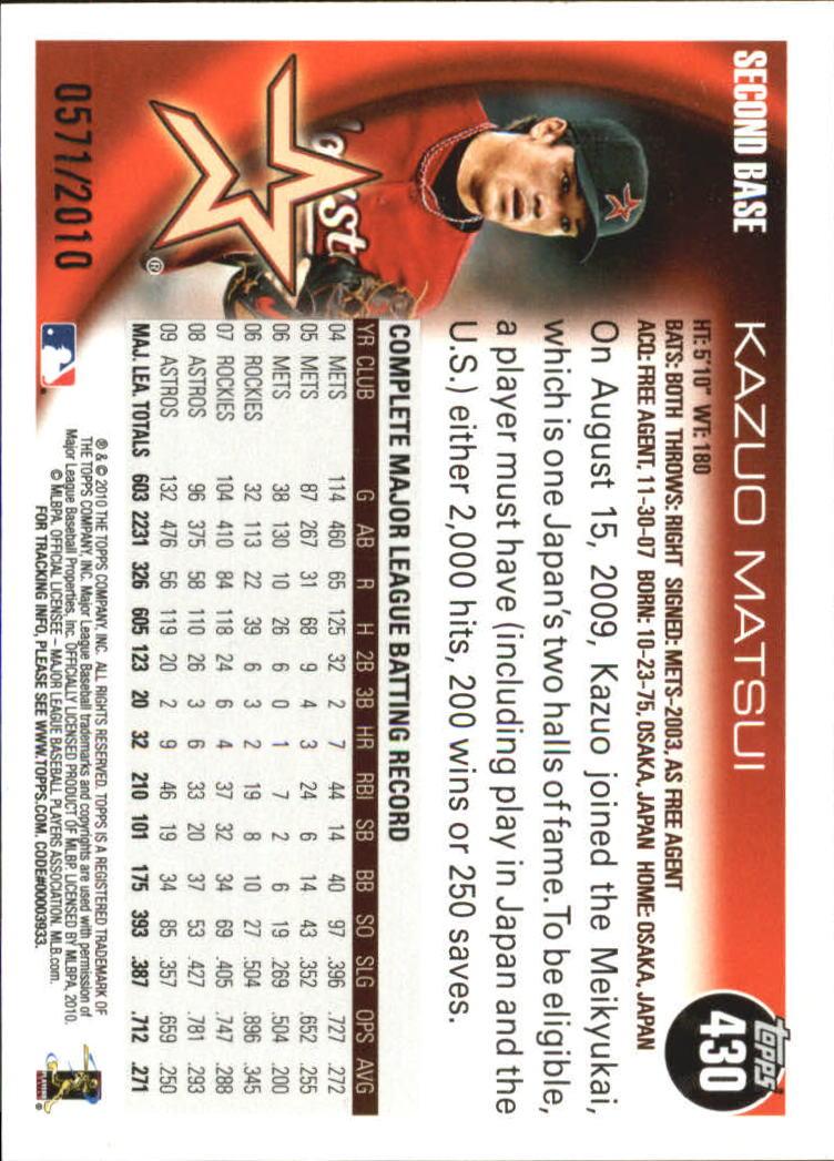 2010-Topps-Baseball-Gold-Border-Singles-Pick-Your-Cards thumbnail 59
