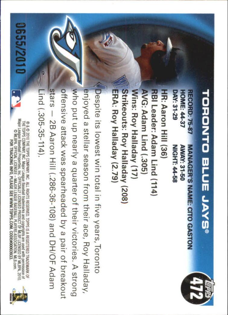 2010-Topps-Baseball-Gold-Border-Singles-Pick-Your-Cards thumbnail 77