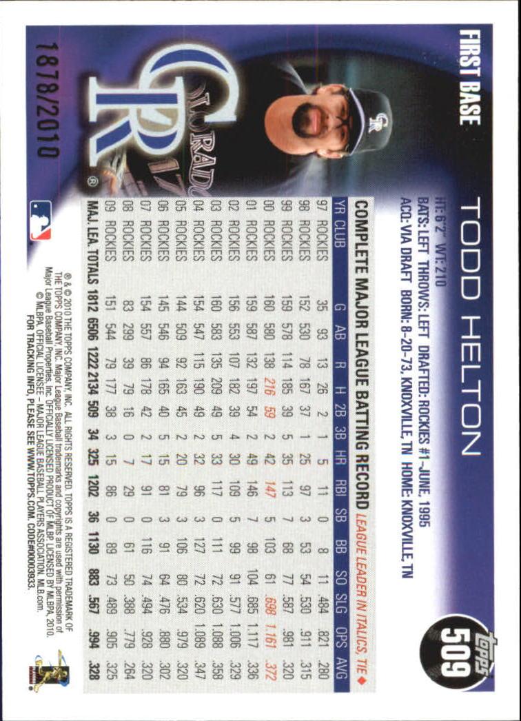 2010-Topps-Baseball-Gold-Border-Singles-Pick-Your-Cards thumbnail 91
