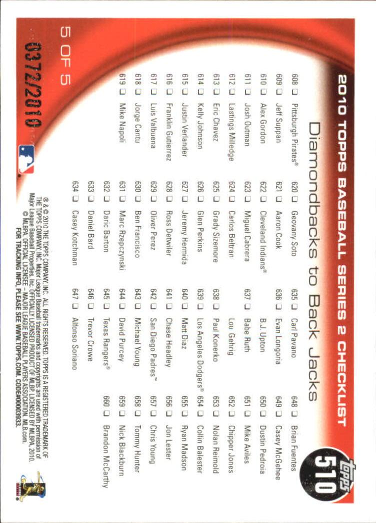 2010-Topps-Baseball-Gold-Border-Singles-Pick-Your-Cards thumbnail 93