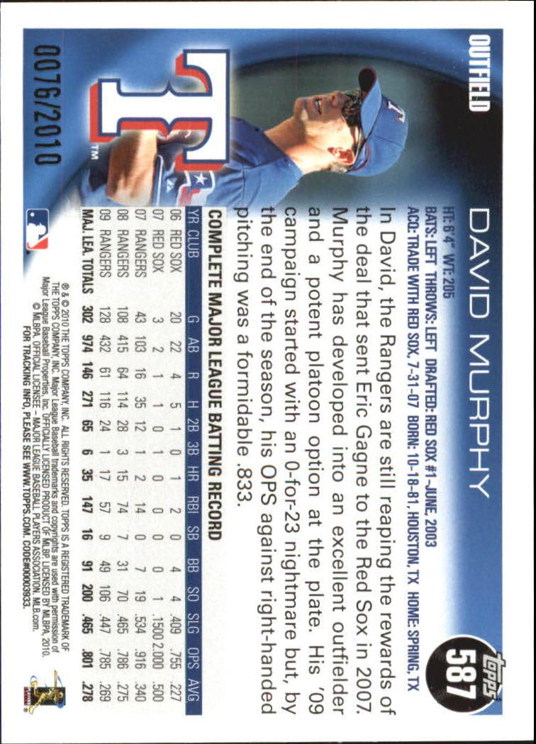 2010-Topps-Baseball-Gold-Border-Singles-Pick-Your-Cards thumbnail 111