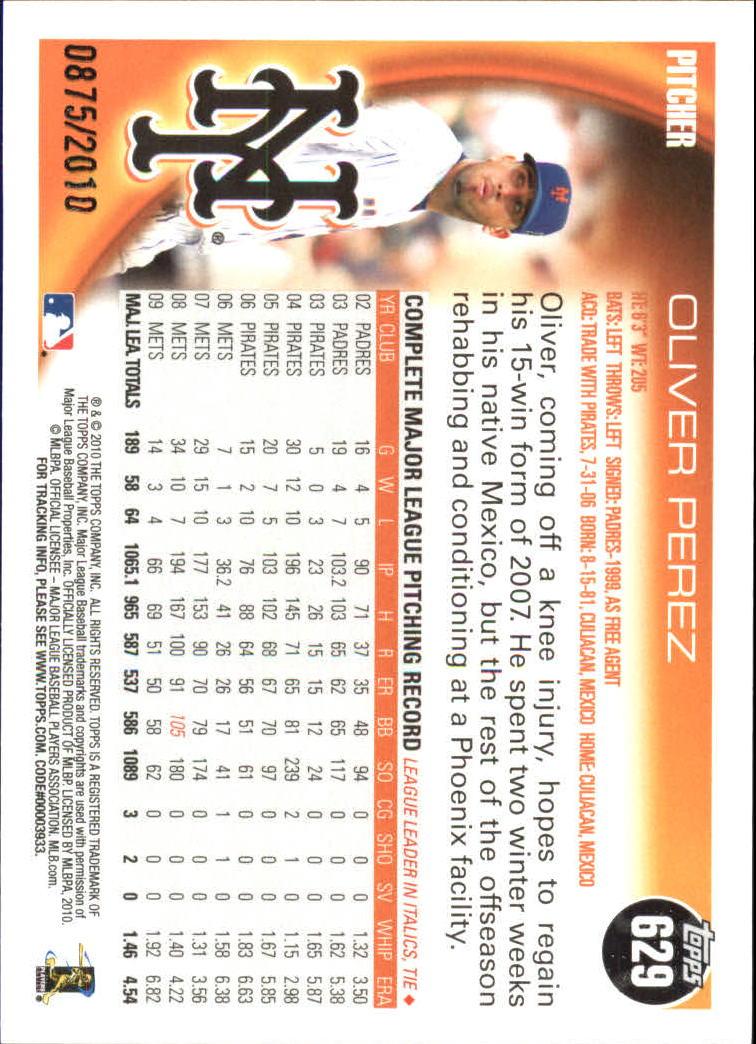 2010-Topps-Baseball-Gold-Border-Singles-Pick-Your-Cards thumbnail 127