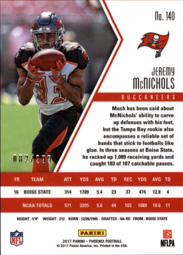 2017-Panini-Phoenix-Football-Red-Parallel-Singles-Pick-Your-Cards thumbnail 21