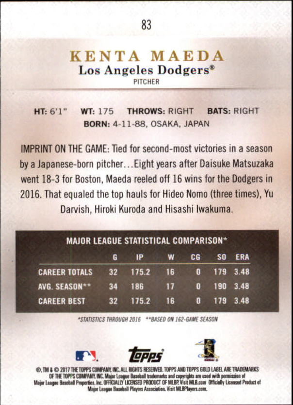 2017-Topps-Gold-Label-Baseball-Class-3-Singles-Pick-Your-Cards miniature 53
