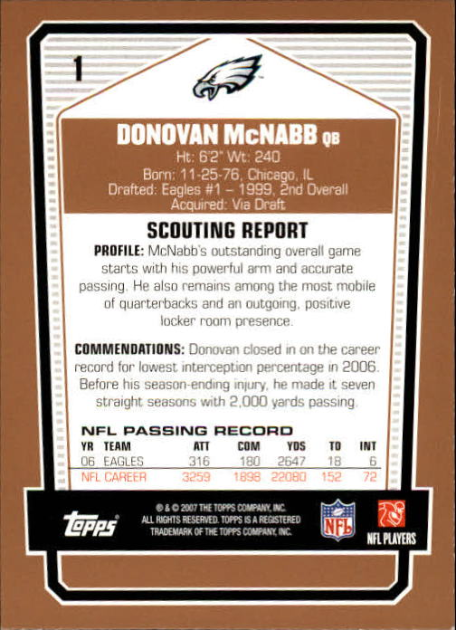 2007-Topps-Draft-Picks-and-Prospects-Football-Base-Singles-Pick-Your-Cards thumbnail 3