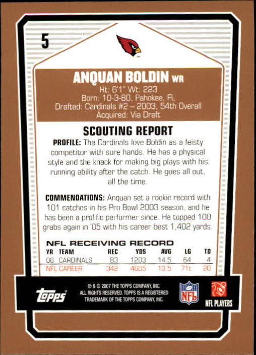 2007-Topps-Draft-Picks-and-Prospects-Football-Base-Singles-Pick-Your-Cards thumbnail 5