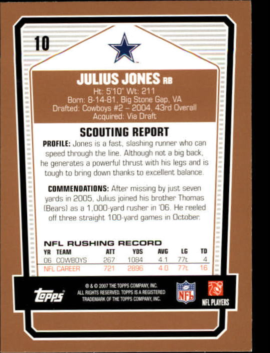 2007-Topps-Draft-Picks-and-Prospects-Football-Base-Singles-Pick-Your-Cards thumbnail 11