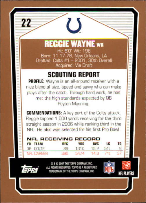 2007-Topps-Draft-Picks-and-Prospects-Football-Base-Singles-Pick-Your-Cards thumbnail 19