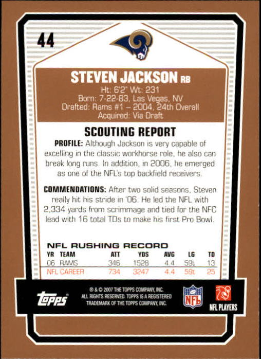 2007-Topps-Draft-Picks-and-Prospects-Football-Base-Singles-Pick-Your-Cards thumbnail 29