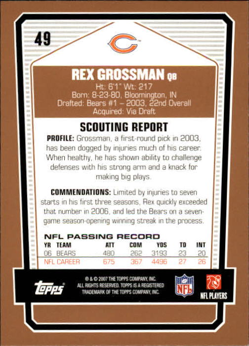 2007-Topps-Draft-Picks-and-Prospects-Football-Base-Singles-Pick-Your-Cards thumbnail 35