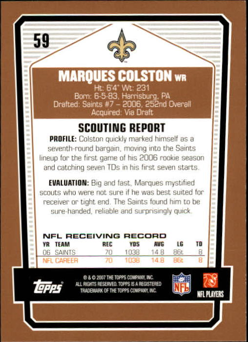 2007-Topps-Draft-Picks-and-Prospects-Football-Base-Singles-Pick-Your-Cards thumbnail 41