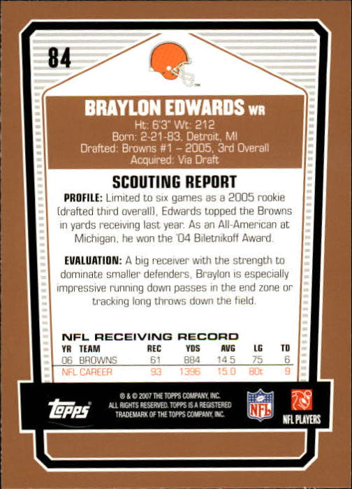2007-Topps-Draft-Picks-and-Prospects-Football-Base-Singles-Pick-Your-Cards thumbnail 53