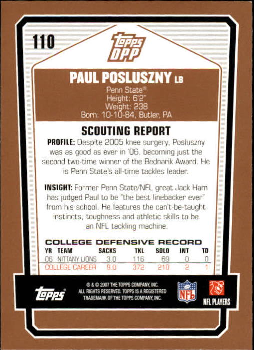 2007-Topps-Draft-Picks-and-Prospects-Football-Base-Singles-Pick-Your-Cards thumbnail 67